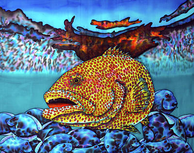 Painting - Tiger Grouper Fish by Daniel Jean-Baptiste