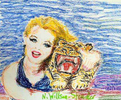 Tiger Hug Original by N Willson-Strader