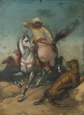 Orientalist Painting - Tiger Hunt by Eastern Accents