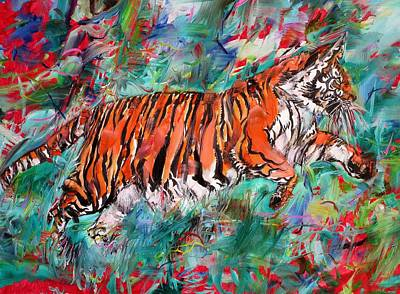 Painting - Tiger In Its Jungle by Fabrizio Cassetta