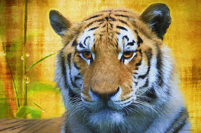 Painting - Tiger In The Bamboo - Painting by Ericamaxine Price
