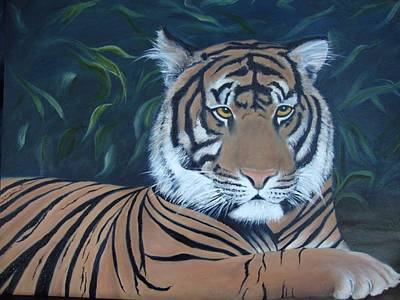 The Tiger Hunt Painting - Tiger In The Jungle by Deby Kalush