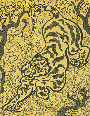 Relief - Tiger In The Jungle by Paul Ranson