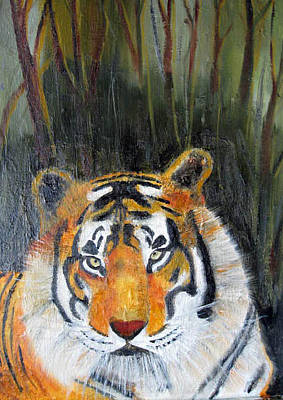 Painting - Tiger by Jack G  Brauer