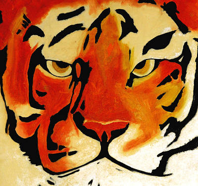 Tiger Art Print by Turtle Caps