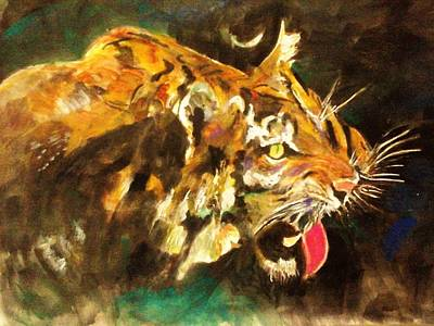 Painting - Tiger by Khalid Saeed