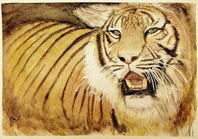 Painting - Tiger King by Annie Poitras
