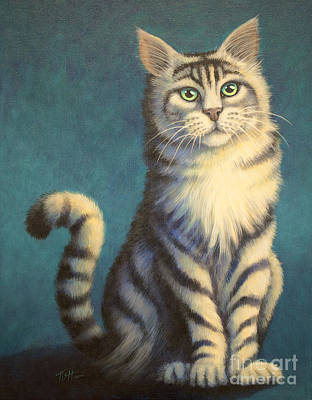 Painting - Tiger Kitty by Tish Wynne