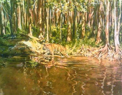 Tiger Lake Art Print
