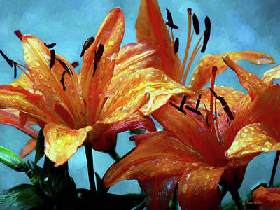 Painting - Tiger Lilies After The Rain - Painted by Ericamaxine Price