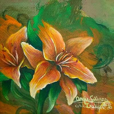 Kids Alphabet - Tiger Lilies and Twirls by Angie Sellars