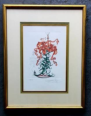Tiger Lily Mixed Media - Tiger Lilies Of The Theater, Plus Moustache by Salvador Dali