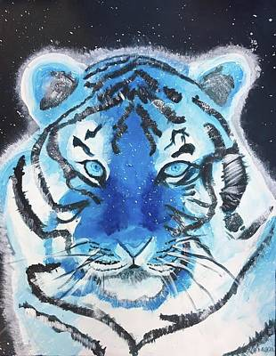 Monotone Painting - Tiger by Lillianna Orkwis