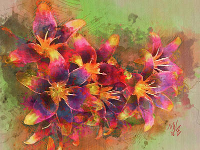 Digital Art - Tiger Lillies by Mal-Z