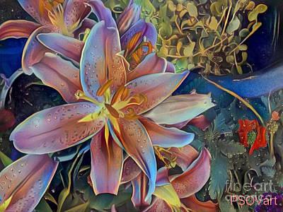 Colorful Art Digital Art - Tiger Lily 1 by Patty Vicknair