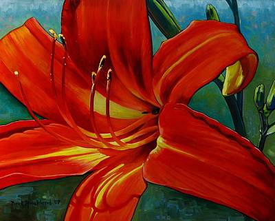 Stamen Painting - Tiger Lily by Doug Strickland