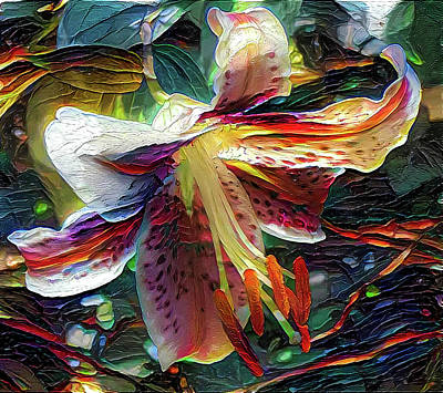 Abstract Graphics - Tiger lily by Lilia D