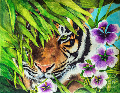 Drawing - Tiger Lily by Scott Parker