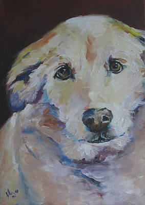 Mixed Labrador Retriever Painting - Tiger Marie by Julie Dalton Gourgues