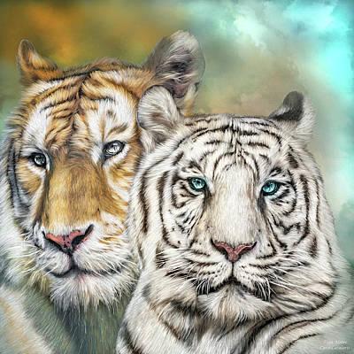 Mixed Media - Tiger Mates by Carol Cavalaris