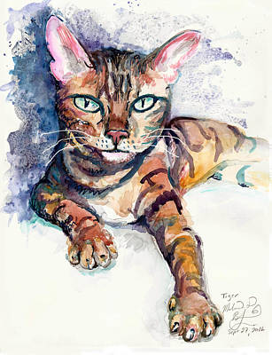 Tiger Art Print by Melinda Dare Benfield
