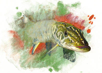 Tiger Muskie Pike Original by Janice Lawrence
