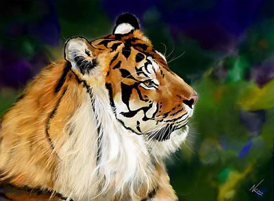 Digital Art - Tiger by Norman Klein