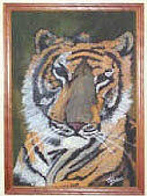 Painting - Tiger Oil Painting by Julia Woodman