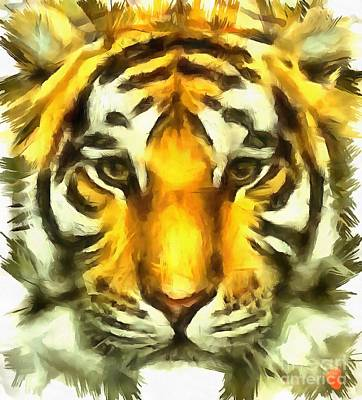 Painting - Tiger Painted by Catherine Lott