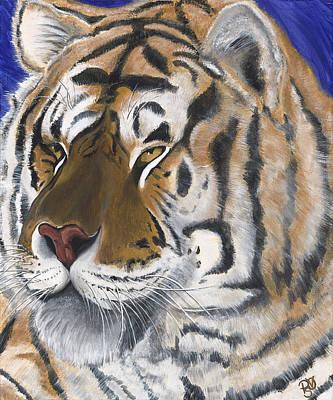 Psovart Painting - Tiger  by Patty Vicknair