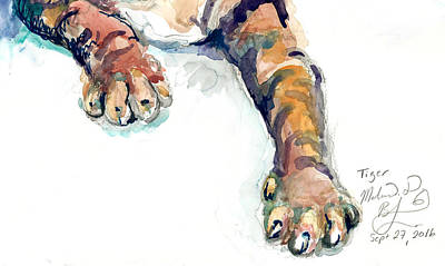 Painting - Tiger Paws by Melinda Dare Benfield