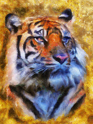 Painting - Tiger Portrait by Jai Johnson