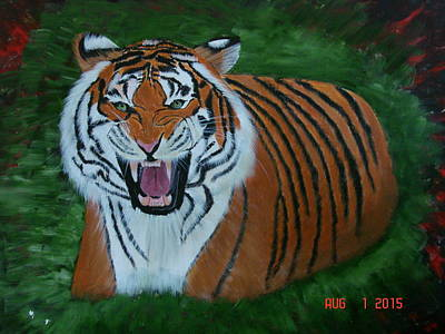 The Tiger Painting - Tiger by Prativa Das