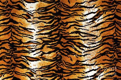 Tiger Print Background Art Print