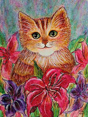 Tiger Puff Art Print by Natalie Holland