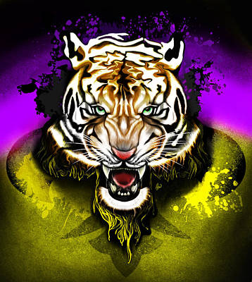 Digital Art - Tiger Rag by AC Williams