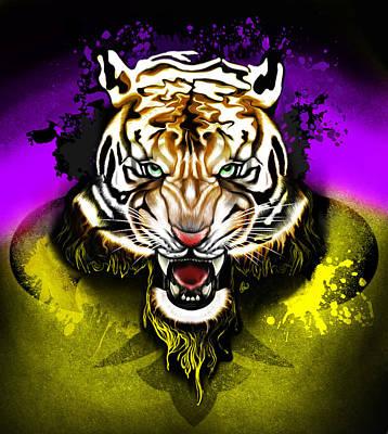 Tiger Rag Art Print