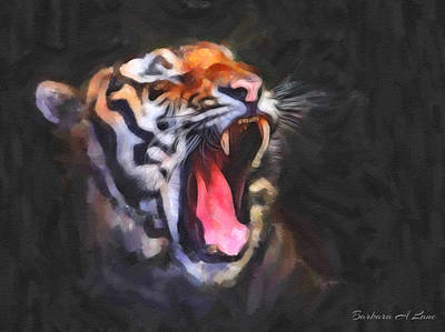 Mixed Media - Tiger Roar by Barbara A Lane