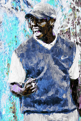 Nike Photograph - Tiger Says Digital Painting Golf by David Haskett