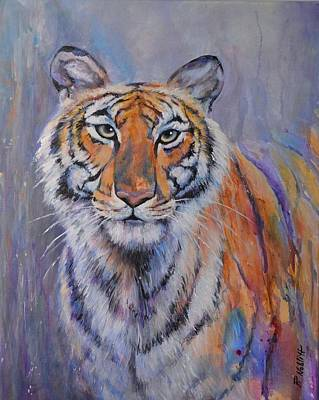 Wall Art - Painting - Tiger Secret by Paula Noblitt