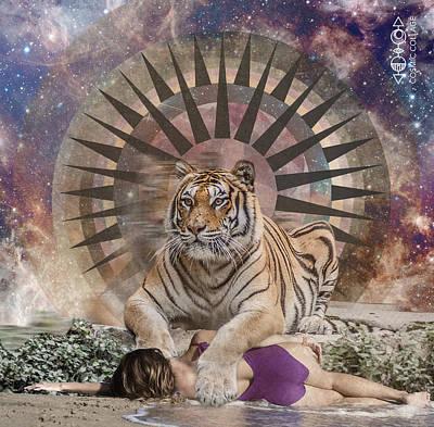 Drawing - Tiger Spirit Animal by Lori Menna