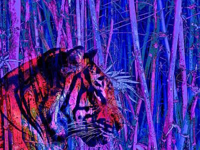 Painting - Tiger Spirit Animal Totems by David Mckinney