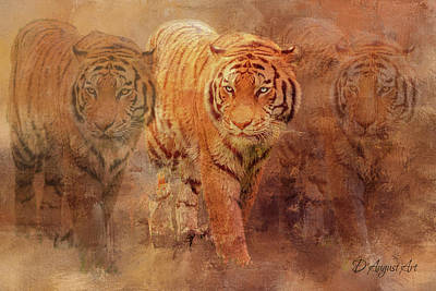Mixed Media - Tiger Spirit by Theresa Campbell