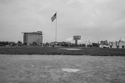 Photograph - Tiger Stadium Behind The Plate Black And White  by John McGraw