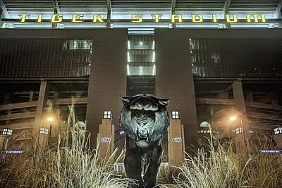 Tiger Stadium On Saturday Night Art Print