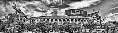 Photograph - Tiger Stadium - Pano Surreal Bw by Scott Pellegrin