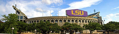 Louisiana State University Photograph - Tiger Stadium Panorama by Scott Pellegrin