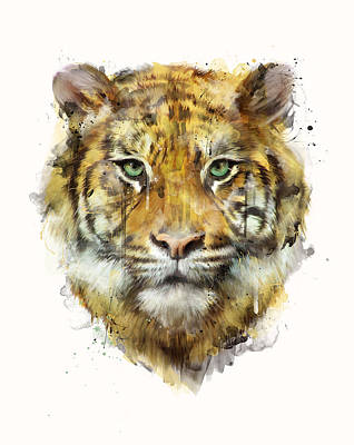 Tiger Wall Art - Painting - Tiger // Strength by Amy Hamilton