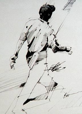 Us Open Drawing - Tiger  by David Kilmer