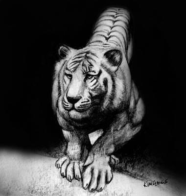 Drawing - Tiger Study by Kim Gauge